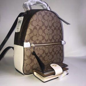 Jordyn Backpack and Medium Wallet set NWT Coach